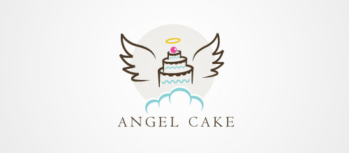 45 delicious cake logo designs for inspiration Angel logo design